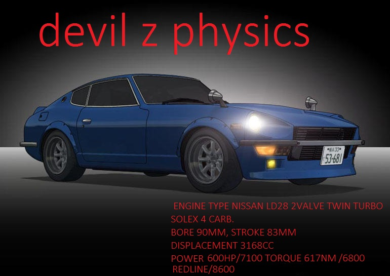 Nissan Fairlady S30Z (DEVIL Z REAL ENGINE PHYSICS)