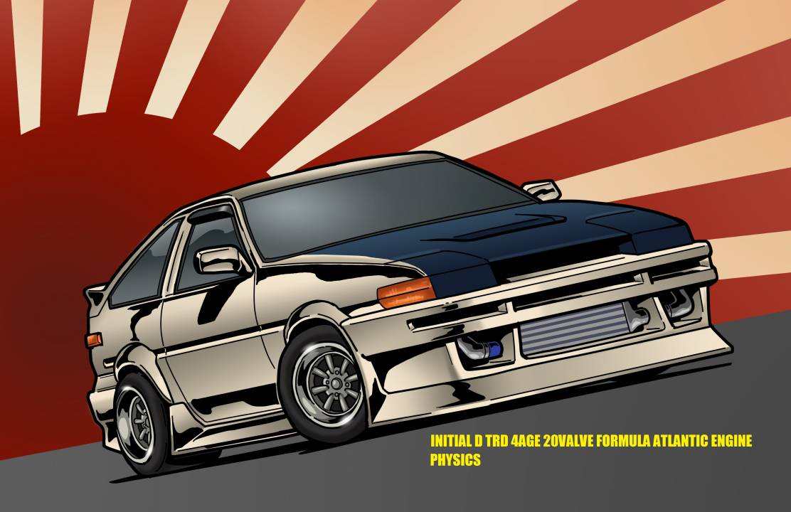 AE86 TRD FORMULA ATLANTIC 4AGE 20VALVE PHYSICS